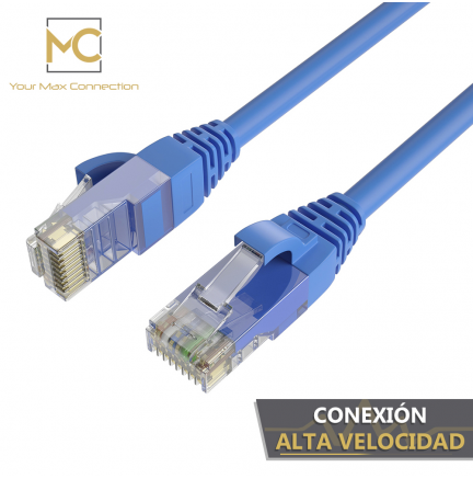 Pack 5 Cables Ethernet CAT6 RJ45 24AWG 3m + 15 Bridas Max Connection