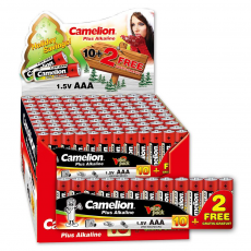 Pack 20x Plus Alcalina AAA LR03 1.5V (20 packs * 10 pilas + 2 Gratis) Camelion