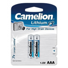 Litio AAA 1.5V (2 pcs) Camelion