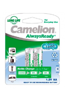 "Recargable ""Always Ready"" AA 800mAh (2 pcs) Camelion"