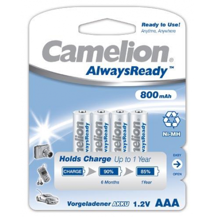 "Recargable ""Always Ready"" AAA 800mAh (4 pcs) Camelion"