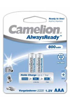 "Recargable ""Always Ready"" AAA 800mAh (2 pcs) Camelion"
