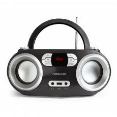 Radio CD Bluetooth 4.0/MP3/AUX/Radio FM Negro Fonestar