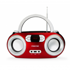 Radio CD Bluetooth 4.0/MP3/AUX/Radio FM Rojo Fonestar