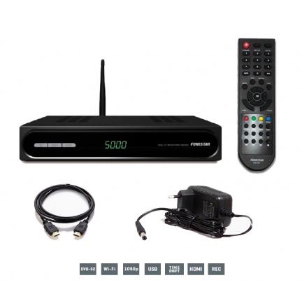 Receptor Satélite HD RDS-584WHD WIFI + Cable HDMI Fonestar