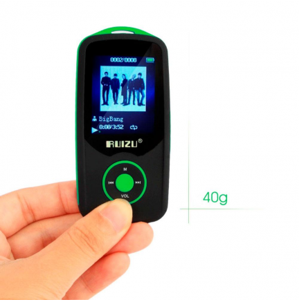 Reproductor MP3 Bluetooth 4Gb X06 Verde