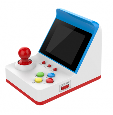 Consola Mini Recreativa Arcade Retro 360 Juegos Azul/Blanco