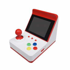 Consola Mini Recreativa Arcade Retro 360 Juegos Rojo/Blanco