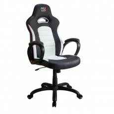 Silla Gaming GM700 Negro/Blanco MUVIP