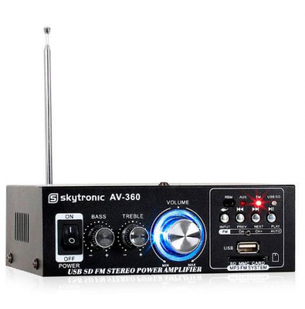 Mini Amplificador 2x40W Skytronic AV-360