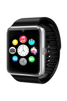 SmartWatch GT08 SIM+SD+BLUETOOTH Negro+Plata
