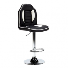 Taburete Gaming Racing Negro/Blanco MUVIP