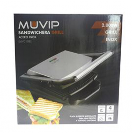 Sandwichera Grill Inoxidable 2000W MUVIP