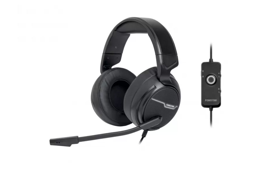 E-Nuc Auriculares Gaming WIN-U (Auriculares Gaming con Micrófono Abatible, Retroilum
